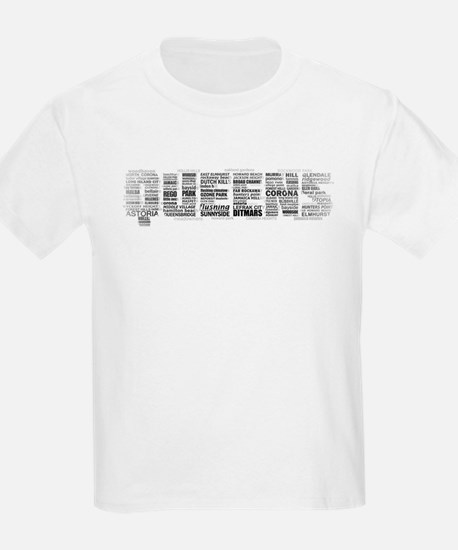 Queens New York Typography T-Shirt