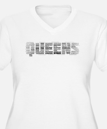 Queens New York Typography Plus Size T-Shirt