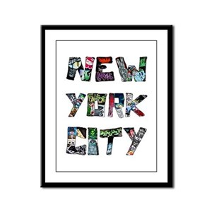 New York City Street Art Framed Panel Print