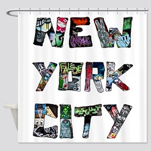 New York City Street Art Shower Curtain