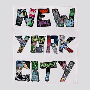 New York City Street Art Throw Blanket