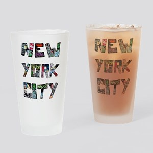 New York City Street Art Drinking Glass