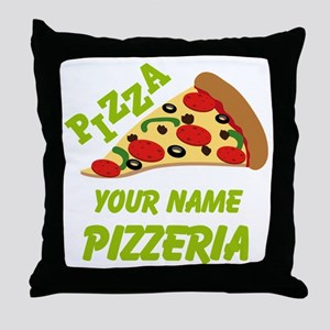 Personalized Pizzeria Throw Pillow