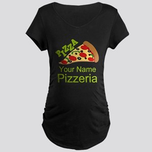Personalized Pizzeria Maternity T-Shirt