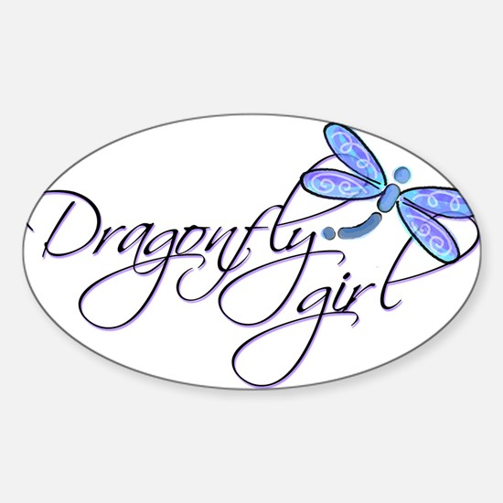 Dragonfly Girl Rectangle Decal