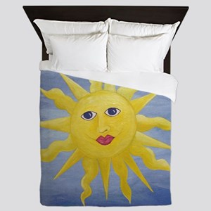 Whimsical Sun Queen Duvet