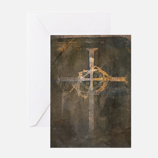 """Crux"" Cross Greeting Card"