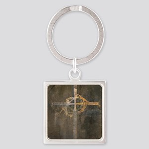 """Crux"" Cross Square Keychain"