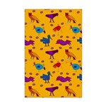Animals Orange Owls Chickens Mini Poster Print