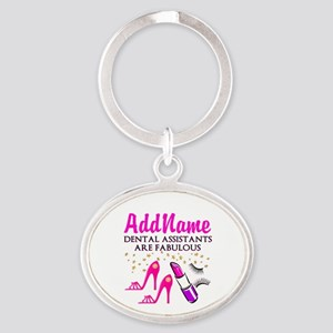 SUPER DENTAL ASST Oval Keychain