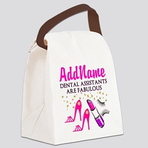 SUPER DENTAL ASST Canvas Lunch Bag