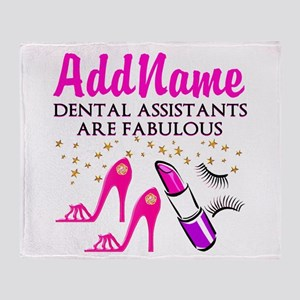SUPER DENTAL ASST Throw Blanket