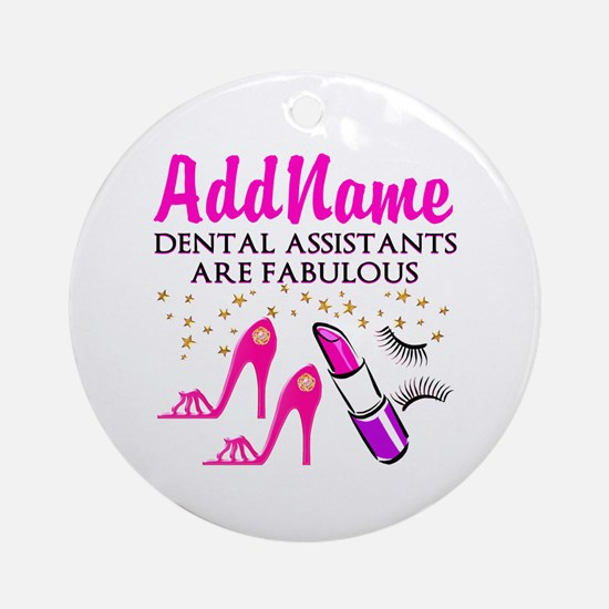 SUPER DENTAL ASST Ornament (Round)