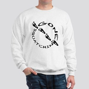 Gone Squatchin footprints 4 Sweatshirt