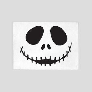 Creepy Smiling Face 5'x7'Area Rug