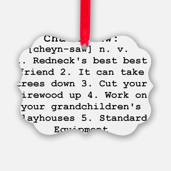 Chain Saw Definition Ornament