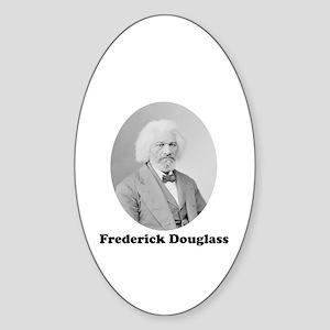 Frederick Douglass Oval Sticker
