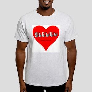 Steven in red heart Ash Grey T-Shirt
