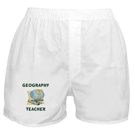 Geography Teacher Boxer Shorts