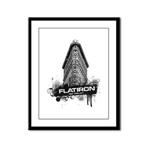Flatiron Building New York Framed Panel Print