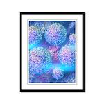Outer Flow III Aqua Framed Panel Print