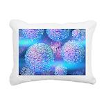 Outer Flow III Aqua Rectangular Canvas Pillow