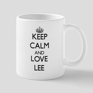 Keep calm and love Lee Mugs