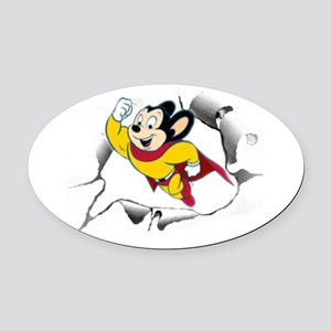 Mighty Mouse Oval Car Magnet