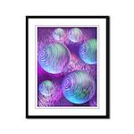 Inner Flow II Purple Abstract Framed Panel Print