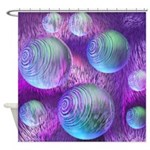 Inner Flow II Purple Abstract Shower Curtain