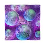 Inner Flow II Purple Abstract Queen Duvet