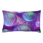 Inner Flow II Purple Abstract Pillow Case