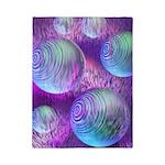 Inner Flow II Purple Abstract Twin Duvet