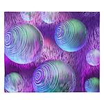 Inner Flow II Purple Abstract King Duvet