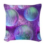 Inner Flow II Abstract Woven Throw Pillow