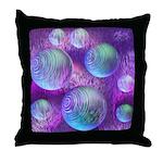 Inner Flow II Purple Abstract Throw Pillow