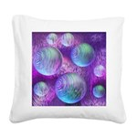 Inner Flow II Purple Abstract Square Canvas Pillow