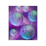 Inner Flow II Purple Abstract Throw Blanket