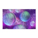 Inner Flow II Purple Abstract 3'x5' Area Rug