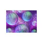 Inner Flow II Purple Abstract 5'x7'Area Rug