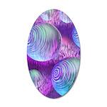Inner Flow II Purple 35x21 Oval Wall Decal