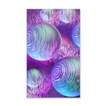 Inner Flow II Purple Abstract 20x12 Wall Decal