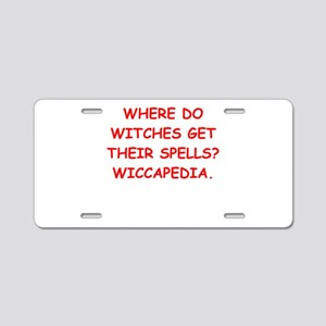 witches Aluminum License Plate