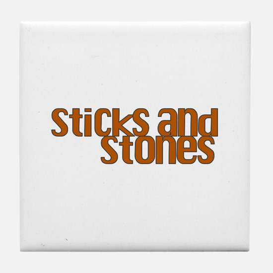 Sticks and Stones Tile Coaster