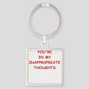dirty mind Keychains