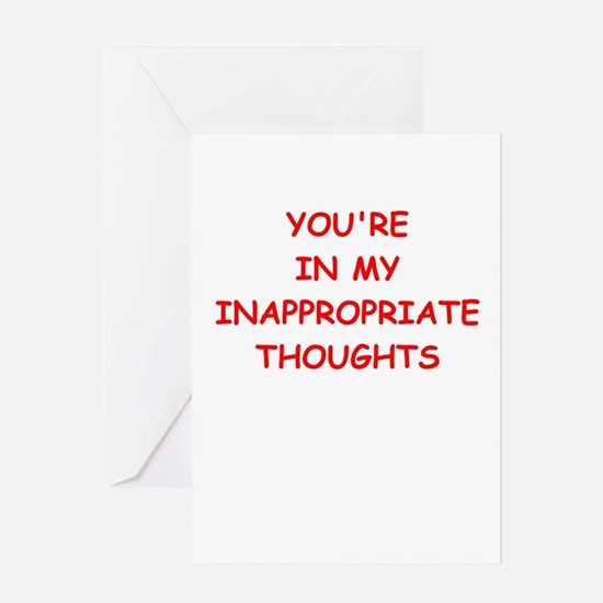 dirty mind Greeting Cards