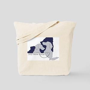 NYS Weim Rescue Tote Bag -Blue logo