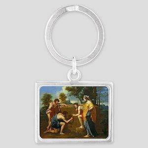 Arcadian Shepherds by Nicolas P Landscape Keychain