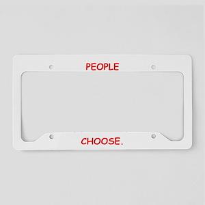 schizo License Plate Holder
