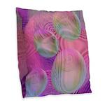 Inner Flow III, Rose Burlap Throw Pillow